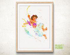 Disney Aladdin Watercolor Art Poster Print Home by MarcoFriend