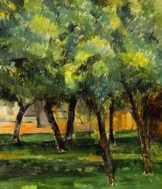 In the lost lilac and the lost sea voices — Paul Cezanne Paul Cezanne, Cezanne Art, Landscape Art, Landscape Paintings, Claude Monet, French Artists, Tree Art, Beautiful Paintings, Art World