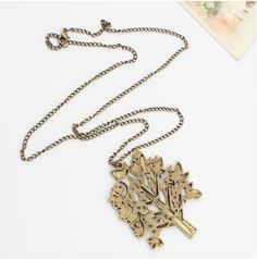Scribbled Tree Necklace Rs.450