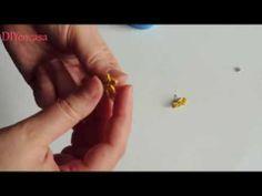 Manualidades con niños DIY pendientes faciles con goma eva. Earring Foamy. - YouTube