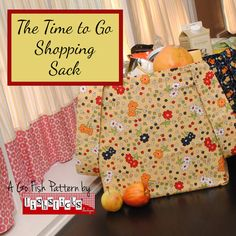 The Time to Go Shopping Sack - tri-fold paper pattern from Fishsticks | Simplifi Fabric