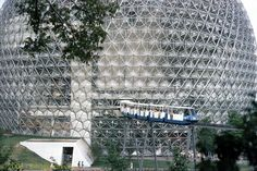 Buckminster Fuller's Geodesic dome, the US pavilion at Expo 67, Montreal