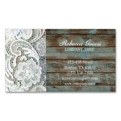 vintage lace barn wood western country fashion business card template. This is a fully customizable business card and available on several paper types for your needs. You can upload your own image or use the image as is. Just click this template to get started!