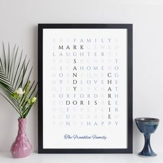 Personalised Family Print Wordsearch By Elevencorners | notonthehighstreet.com