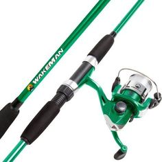Wakeman Swarm Series Spinning Rod and Reel Combo, Silver