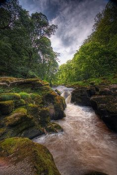 *The River Wharfe, nr Bolton Abbey, Wharfedale, Yorkshire Dales NP, North Yorkshire