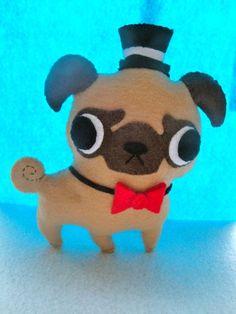 Fancy Pug Plush by KATxZombie on DeviantArt