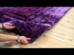 Buy Ridge Rug Silky Soft Aubergine Colour | Land of Rugs