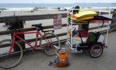 Custom flatbed on the beach. #burley #bike #hauling #flatbed