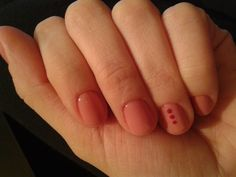 Cute nude nail design with dots