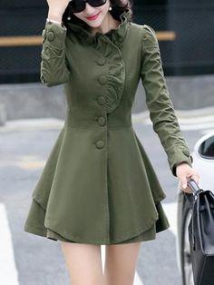 coat and dress Winter Coats Women, Coats For Women, High Neck, Hobbs Coat, Midi Skater Dress, Green Coat, Coat Dress, High Collar, Mantel