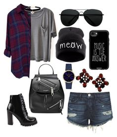 """""""Untitled #95"""" by jacksonwang852g7 on Polyvore featuring Clu, 3x1, Rails, Jeffrey Campbell, Marc Jacobs, Casetify, Betsey Johnson and Laruze"""