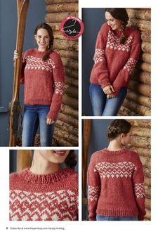 Пуловер с жаккардом. Связать пуловер с жаккардовым узором | Вязание для всей семьи