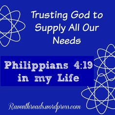 Trusting God to Supply All Our Needs
