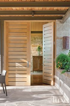 Wild Thing: Natural Beauty Surrounds A Leon Springs Home | LUXE Source #entryway #doors