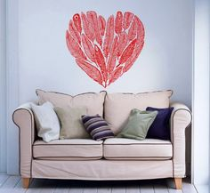 Heart of Feathers Wall Vinyl Decals Sticker Home Interior Decor for Any Room Housewares Mural Design Graphic Bedroom Wall Decal (5805) stickergraphics http://www.amazon.com/dp/B00K77SX3C/ref=cm_sw_r_pi_dp_M9WZtb0F0D9Y4VXS