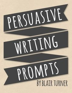 {FREE!} Persuasive Writing Prompts - these thought-provoking prompts will get your students thinking, talking, and writing about a variety of high-interest topics.