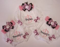 Matching diaper cover & bow