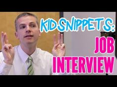Adults Act Out the Audio of Children Pretending to Have a Job Interview