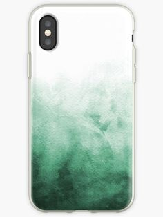 Iphone phone cases Abstract Emerald Green iPhone Case/Skin Cover by NeptuneDesigns. iPhone Cases & C Iphone 6 Plus Case, Iphone Phone Cases, Iphone Case Covers, Green Paintings, Blue Painting, Ipad, Ink Wash, Marble Art, Wash Brush