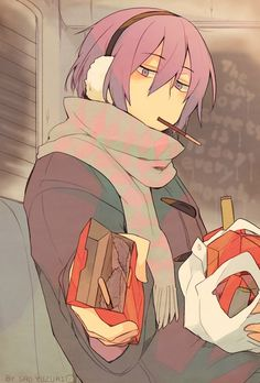 Murasakibara Atsushi. Is this for real? Mukkun is offering someone his snacks...and it's his last Pocky. Who is it? D: