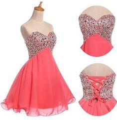 Por encargo una línea vestido corto vestidos de baile, vestidos para Prom Party, vestidos de graduación