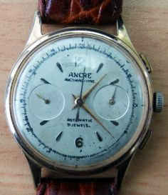 ancre-antimagnetic-automatic-chronograph, #Ancre_Antimagnetic_Automatic_Chronograph, Antique_Ancre_chronograph, Ancre Watch, Ancre Chronograph