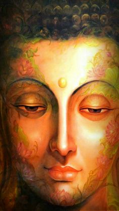 Make your peace with that and all will be well. Buddha Face, Buddha Zen, Gautama Buddha, Buddha Buddhism, Buddhist Art, Budha Painting, Krishna Painting, Religious Paintings, Religious Art