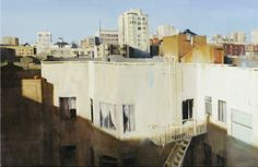 T.L. Rooftops, 2009, Oil on Canvas 24″ x 36″ -  by Kim Cogan