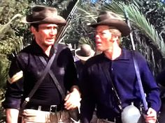 James Drury and Doug McClure in The Virginian Shiloh Ranch, Doug Mcclure, James Drury, Actor James, The Virginian, Tv Westerns, Western Movies, Having A Crush, Special People