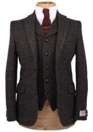 Grey Edison Harris Tweed Jacket