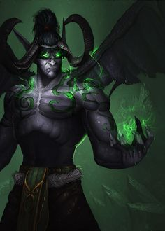 Illidan Stormrage  by Dave Brush