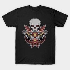 Motorized skull tattoo - Skull Tattoo - T-Shirt | TeePublic Skull Tattoo Design, Tattoo Designs, Shirt Designs, Tattoo T Shirts, Tattoos, Store, Mens Tops, Fashion, Moda