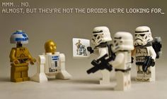 Star Wars Lego these are not the droids you are looking for. Lego Star Wars, Star Wars Stormtrooper, Star Trek, Lego Krieg, Legos, Lego Lego, Star Wars Figure, Amour Star Wars, Heros Disney