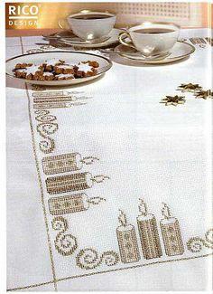 Xmas Cross Stitch, Cross Stitch Borders, Cross Stitch Designs, Cross Stitching, Cross Stitch Embroidery, Cross Stitch Patterns, Cross Stitch Collection, Rico Design, Crochet Cross