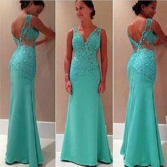 Pd10284 Charming Prom Dress,Lace Prom Dress,Mermaid Prom Dress,V-Neck Prom Dress,Chiffon Prom Dress