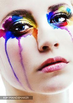 Rainbow of Tears Makeup