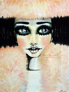 Oils, fanciness, fur. #artwork #illustration #oilonvancas