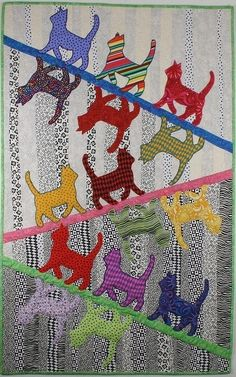 Free Patterns Cats In Attic Windows By Pam Bono