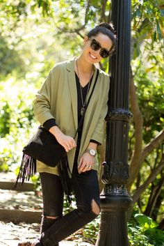 How to mix khaki & fringes in your outfit : MartaBarcelonaStyle's Blog