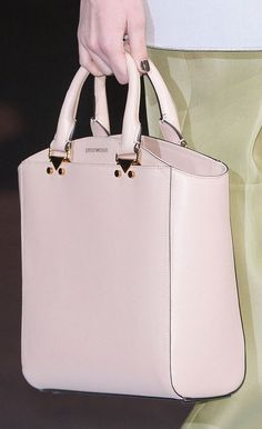 Emporio Armani ~ Soft Pink Leather Tote Fall 2013