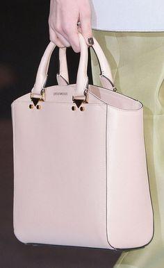 Emporio Armani ~ Soft Pink Leather Tote Fall 2013