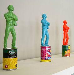 The Warhol Affect (Green), pop sculpture by Jonathan van der Walt Resin Sculpture, South African Artists, Andy Warhol, Tribal Art, Pop Art, Contemporary Art, Original Art, Artwork, Design