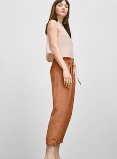 WILFRED ALLANT PANT - Luxe pants that aren't overly concerned with trying too hard