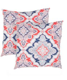 Look at this Red & Blue Damask Floral Veranda Throw Pillow - Set of Two on #zulily today!