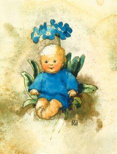 Soloillustratori: Mili Weber e Anna Haller Flower Fairies, Flower Art, Elsa Beskow, Nursery Pictures, Elves And Fairies, Children's Book Illustration, Whimsical Art, Beautiful Artwork, Vintage Children