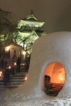 Kamakura snow festival Yokote, Akita Japan