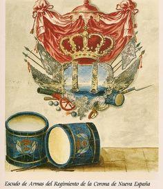 Escudo del Regimiento de la Corona de Nueva España