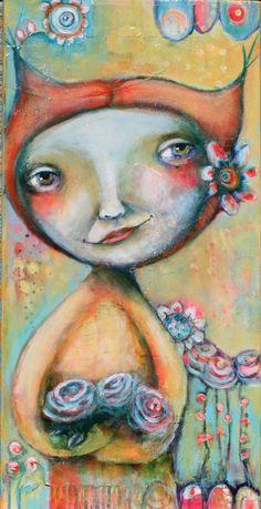 """Roses 12x24"""" by Karen O'Brien"""