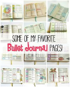 Some of my favorite bullet journal pages from last year.